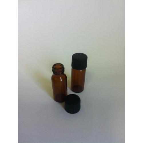 1,5 ml brūna stikla pudelīte ar uzgriežamu vāciņu