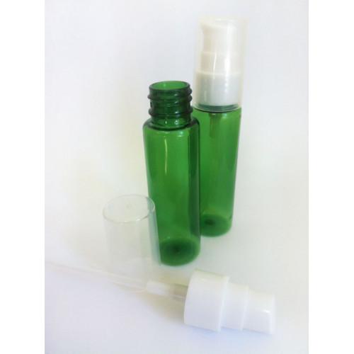 Losjona pudelīte ar pumpīti, 30 ml, zaļa