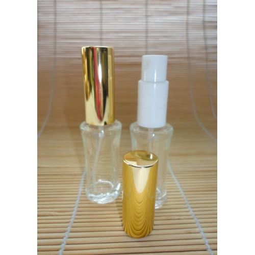 Smaržu pudelīte ar zeltītu vāciņu 10 ml